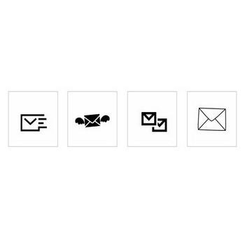 eメール|シルエット イラストの無料ダウンロードサイト「シルエットAC」