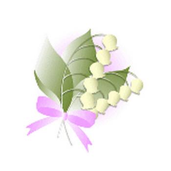 春の花/スズラン/の無料イラスト素材   花/素材/無料/イラスト/素材【花素材mayflower】モバイル/WEB/SNS