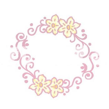 きいのぼる - 水仙の花枠《イラストAC》パープル - Powered by LINE