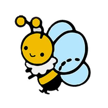 ミツバチのイラスト   保育園・幼稚園のおたよりフリー素材「いらすとびより」