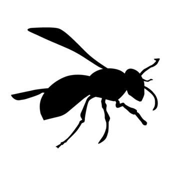 ミツバチ 蜜蜂 動物シルエット 無料イラスト素材