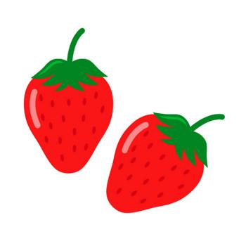 ツヤツヤのいちご(苺)のイラスト | 無料のフリー素材 イラストエイト