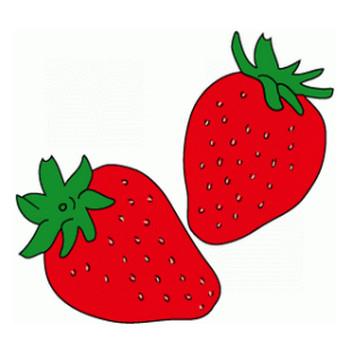 苺(イチゴ)のイラスト│フリー素材の果物ネット