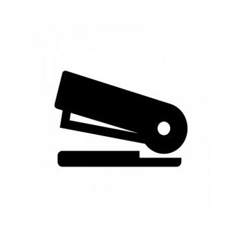 ホッチキスのシルエット | 無料のAi・PNG白黒シルエットイラスト