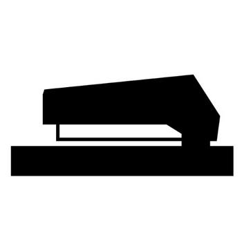 ホッチキス|文房具|フリーアイコン|クリップアート素材