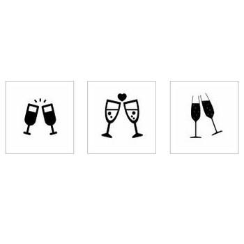 シャンパン|シルエット イラストの無料ダウンロードサイト「シルエットAC」