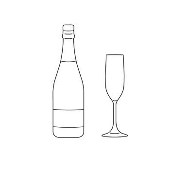シャンパン(グラス)の無料イラスト素材 | Linustock(ライナストック)