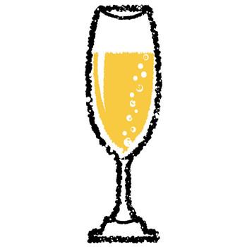 シャンパンイラスト無料素材