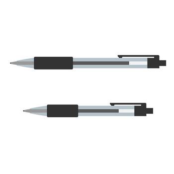 ボールペンのイラスト素材<黒色>   無料フリーイラスト素材集【Frame illust】