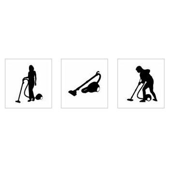 掃除機|シルエット イラストの無料ダウンロードサイト「シルエットAC」