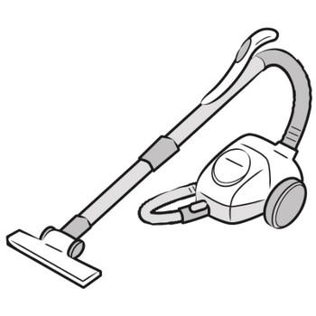 「掃除機」フリーイラスト | シンプルフリーイラスト