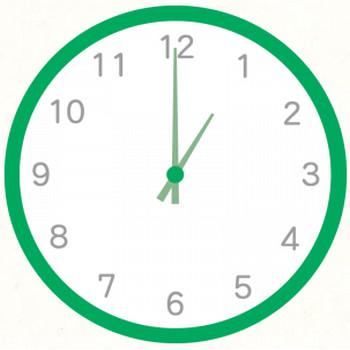 緑色の時計 | フリーイラスト素材のぴくらいく|商用利用可能です
