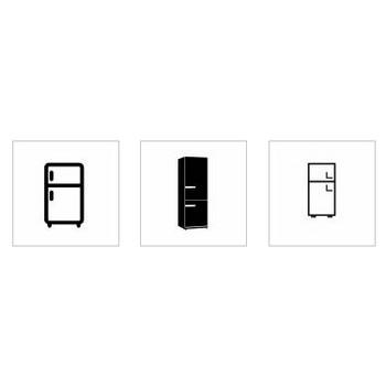 冷蔵庫|シルエット イラストの無料ダウンロードサイト「シルエットAC」