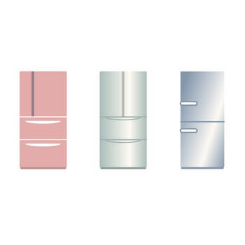 [フリーイラスト] 10種類の冷蔵庫のセットでアハ体験 - GAHAG | 著作権フリー写真・イラスト素材集