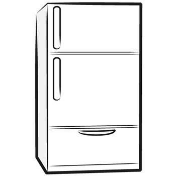 冷蔵庫フリーイラスト | シンプルフリーイラスト