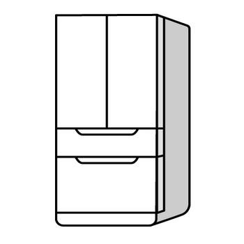 白い冷蔵庫の無料イラスト素材|イラストイメージ