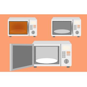 可愛い電子レンジのイラスト - 温める家電の無料素材 - チコデザ