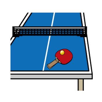 [フリーイラスト] 8種類の卓球のセットでアハ体験 - GAHAG | 著作権フリー写真・イラスト素材集