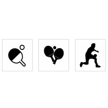 卓球|シルエット イラストの無料ダウンロードサイト「シルエットAC」