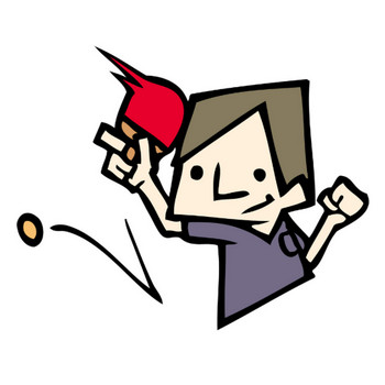 [無料イラスト] 卓球 - パブリックドメインQ:著作権フリー画像素材集
