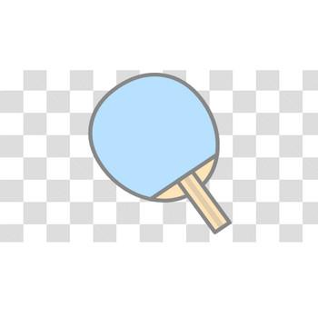 【塗れる】卓球のラケットのフリーイラスト素材