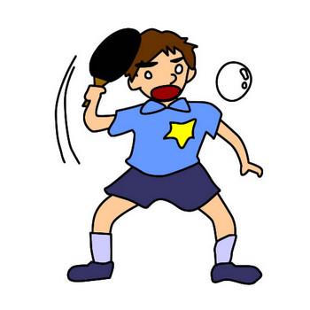 卓球少年のイラスト|フリーイラスト素材 変な絵.net