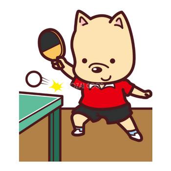 犬が卓球 オリンピック競技 スポーツ無料イラスト69655 | 素材Good