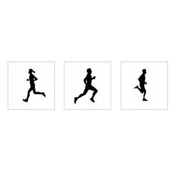 マラソン|シルエット イラストの無料ダウンロードサイト「シルエットAC」