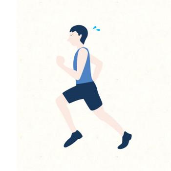 マラソンをしている人 | フリーイラスト素材のぴくらいく|商用利用可能です