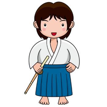 武道01-剣道 の無料イラスト-イラストポップのスポーツクリップアートカット集