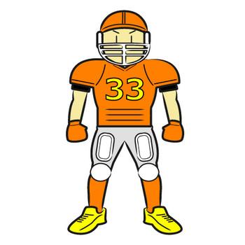 「アメリカンフットボールの選手」フリーイラスト | シンプルフリーイラスト