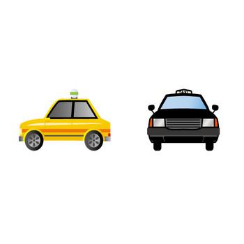 [フリーイラスト] 9種類のタクシーのセットでアハ体験 - GAHAG   著作権フリー写真・イラスト素材集