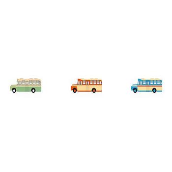 バス-乗り物の素材-イラストポップ