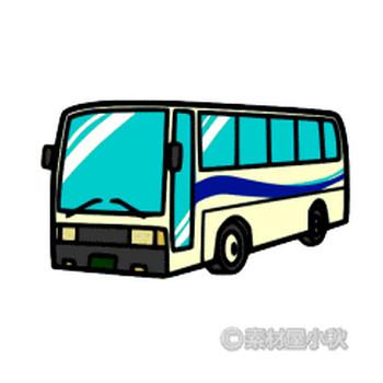 バスのイラスト | 素材屋小秋