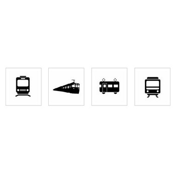 電車|シルエット イラストの無料ダウンロードサイト「シルエットAC」