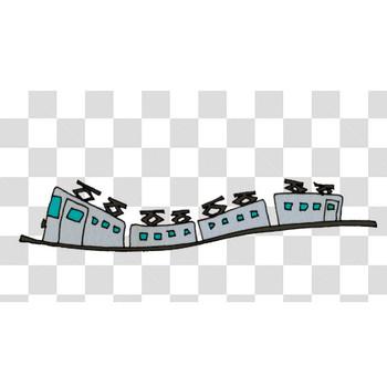 異次元の電車のフリーイラスト素材
