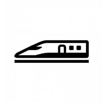 新幹線のシルエット   無料のAi・PNG白黒シルエットイラスト