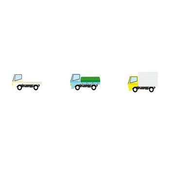 トラック-乗り物の素材-イラストポップ