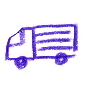 トラック・イラスト(手書き風) | FLAT DESIGN::