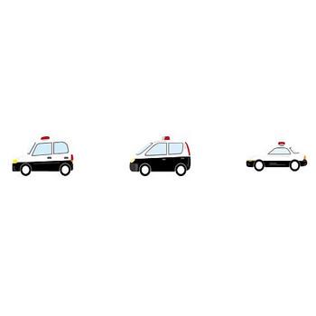 パトカー-乗り物の素材-イラストポップ