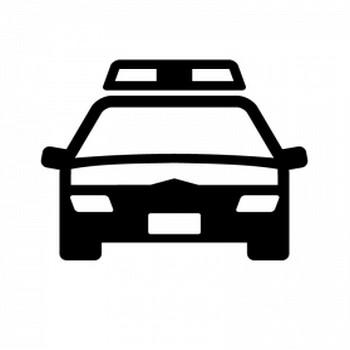 パトカーのシルエット | 無料のAi・PNG白黒シルエットイラスト