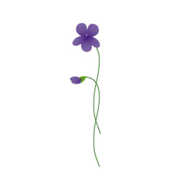 春(すみれ)イラスト スミレの花(無料イラスト)フリー素材