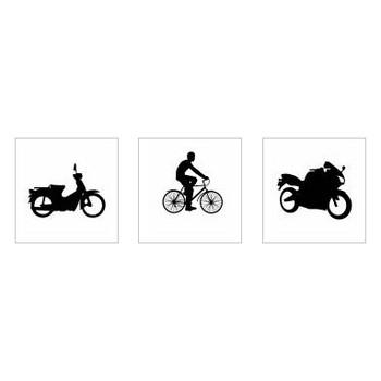 バイク|シルエット イラストの無料ダウンロードサイト「シルエットAC」