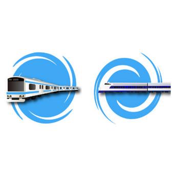 電車の無料イラスト