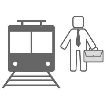 電車通勤 - 無料アイコン素材