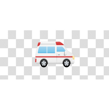 救急車の真横のフリーイラスト素材