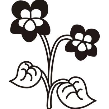 植物 すみれ(モノクロ) – 無料イラスト・PowerPointテンプレート配布サイト【素材工場】