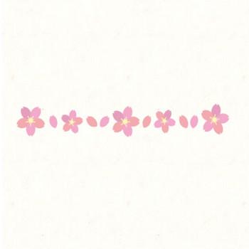 桜フレーム(ライン) | フリーイラスト素材のぴくらいく|商用利用可能です
