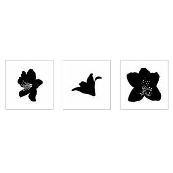 つつじ|シルエット イラストの無料ダウンロードサイト「シルエットAC」