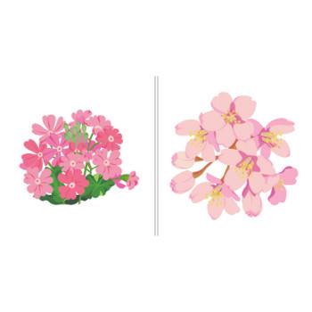 日本の花のイラスト